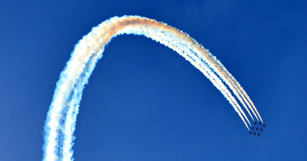 Photo in Journalism #planes #sky #blue #shows