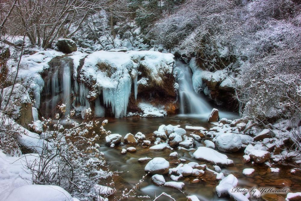 Mountain stream in winter by Yuichi Harada