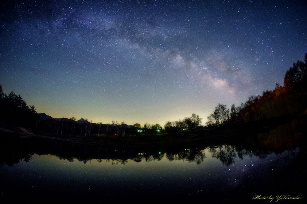 Under a starry sky by Yuichi Harada