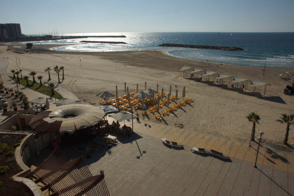 Nechim Beach Herzliya Israel by loragorodetsky
