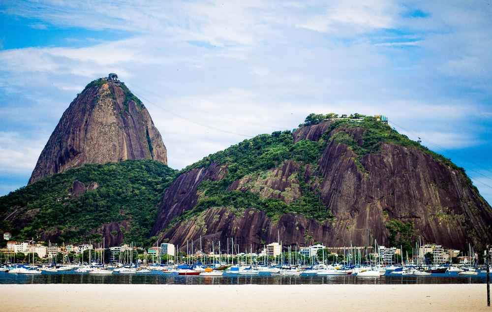 Photo in Nature #rio de janeiro #pão de açúcar #sugar loaf mountain #sea #boats #rj #brazil #brasil #beauty #nature #sky #blue #mountain