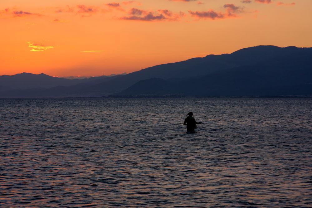 Fishing in the Sea, Akcay, Turkey by Atila_Yumusakkaya