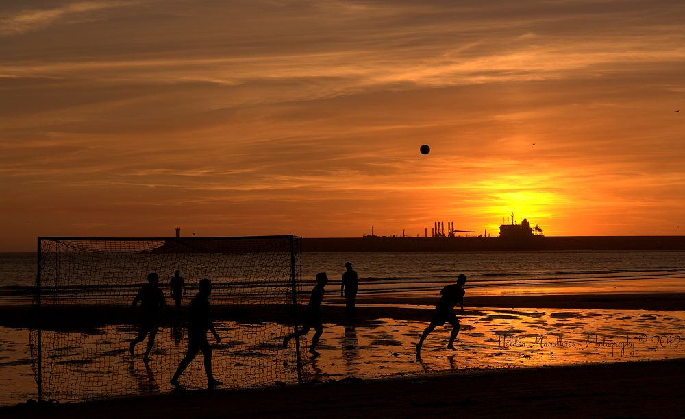 Football at Sunset by helder magalhaes