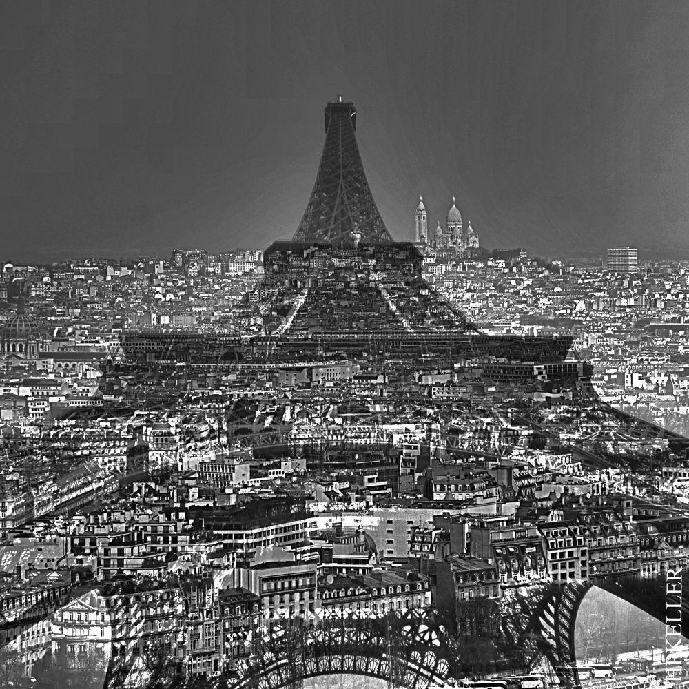 Paris 2013 XI - Kombigrafie by Hans-Peter Keller
