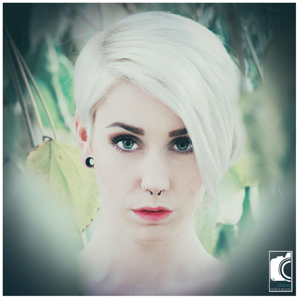 Photo in People #portrait #woman #love #emotion #green #girl #wood #nikon #tender #soft #outdoor #female