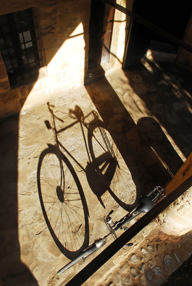 Photo in Random #bicycle #shadow #old #light #historical