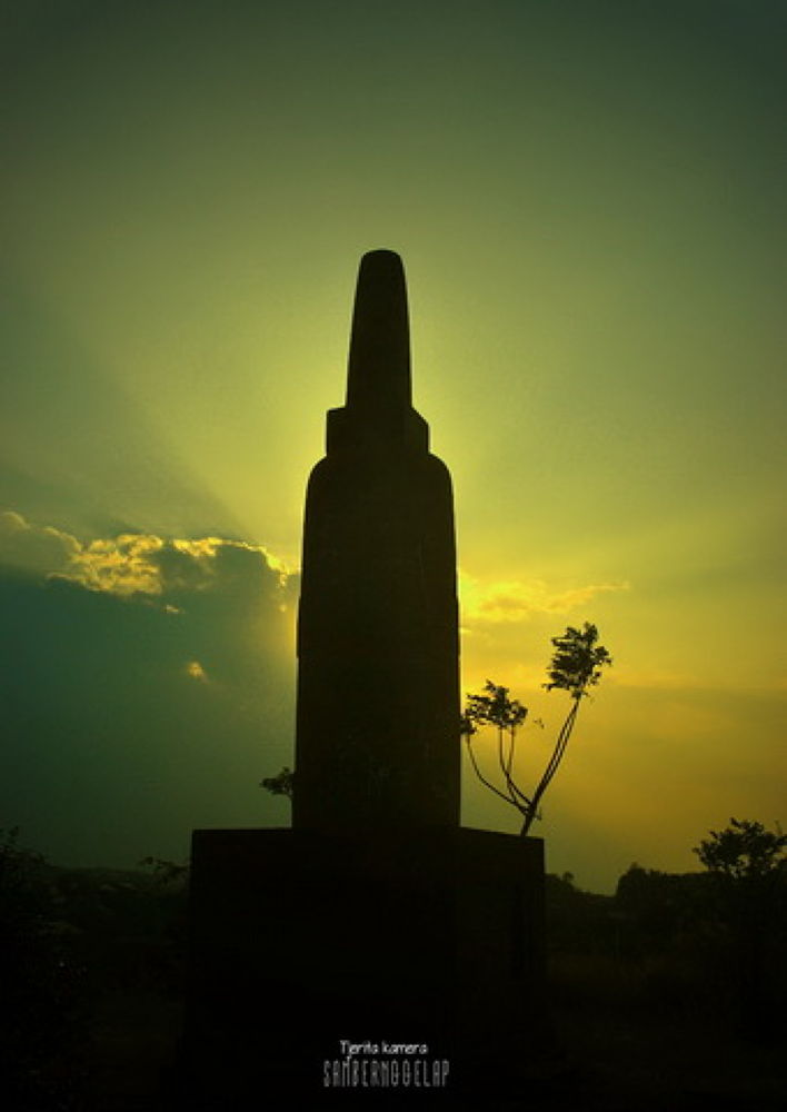 Photo in Random #stone #sunset #indonesia #nature #light #sky #blue sky