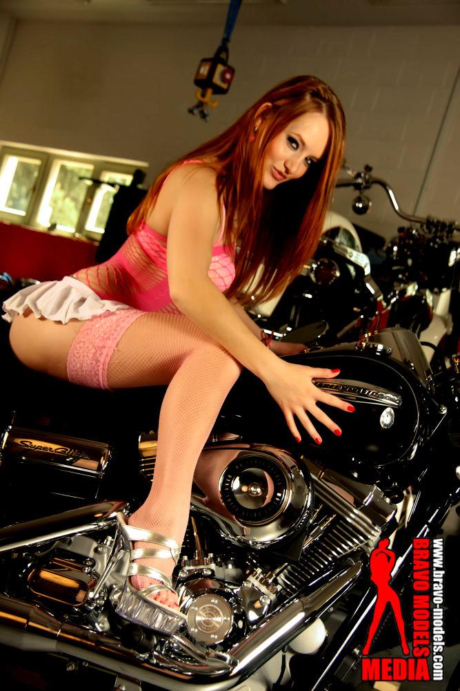 Bikes and sexy girl from Bravo Models Media by Hana Bravo