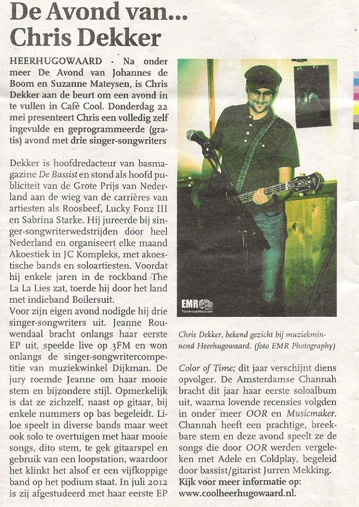 My picture in the newspaper :-) by EMR Photography & Fotomodel Marijn