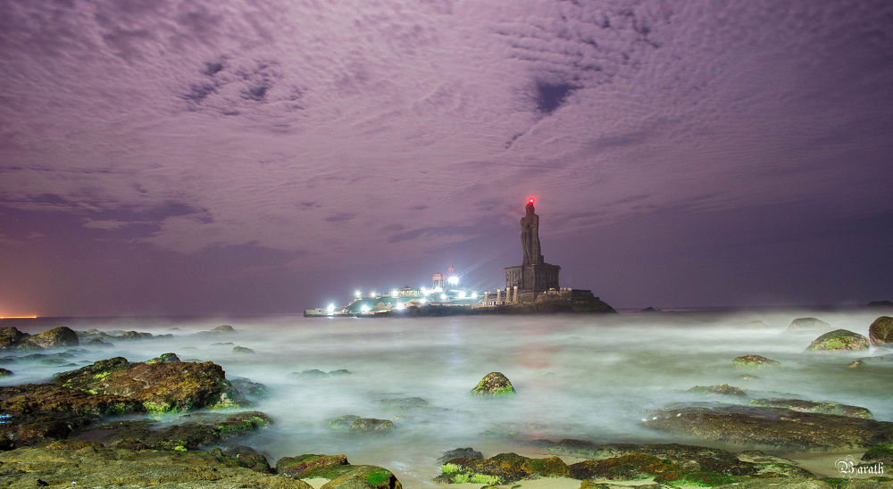 Thiruvalluvar Rock by Barath Ganesh