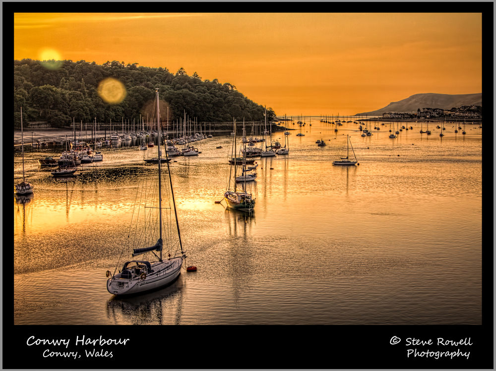 Conwy Harbour by Steve Rowell Photography