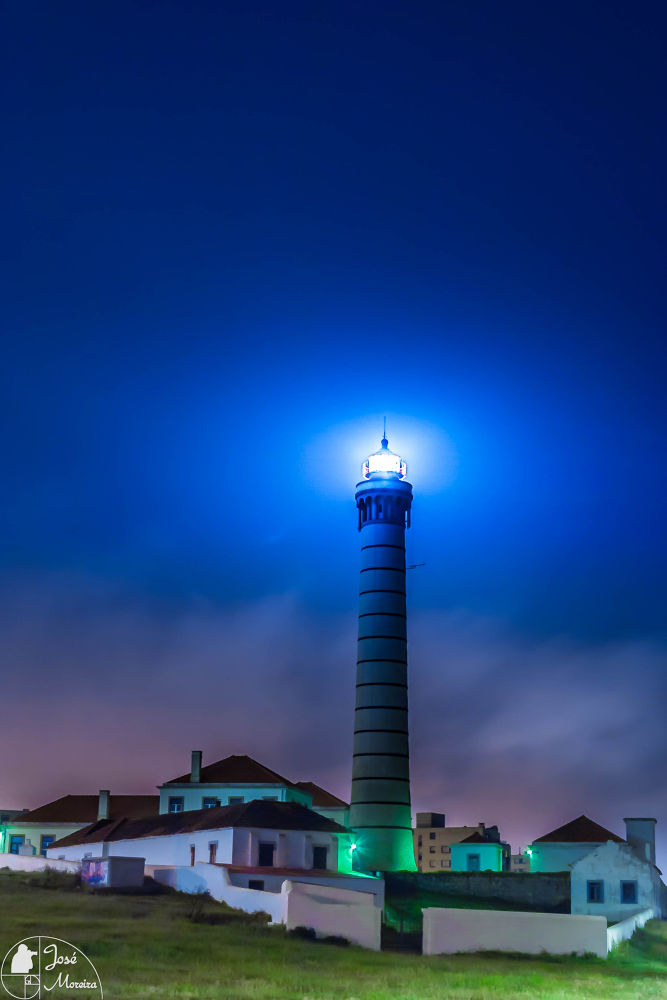 Photo in Urban #lighthouse #leça #porto #portugal #night #long #exposure