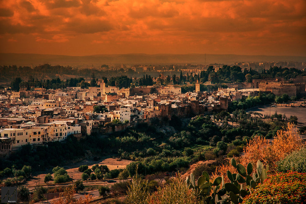 Photo in Landscape #africa #morocco #fes #old city #old medina #medina #ancienne medina #sun #landscape #city #nature #nikon #photography #sunset #paysage