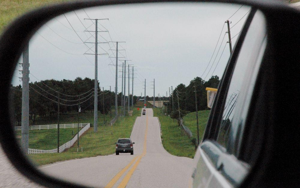 In my rear view. by G Irish