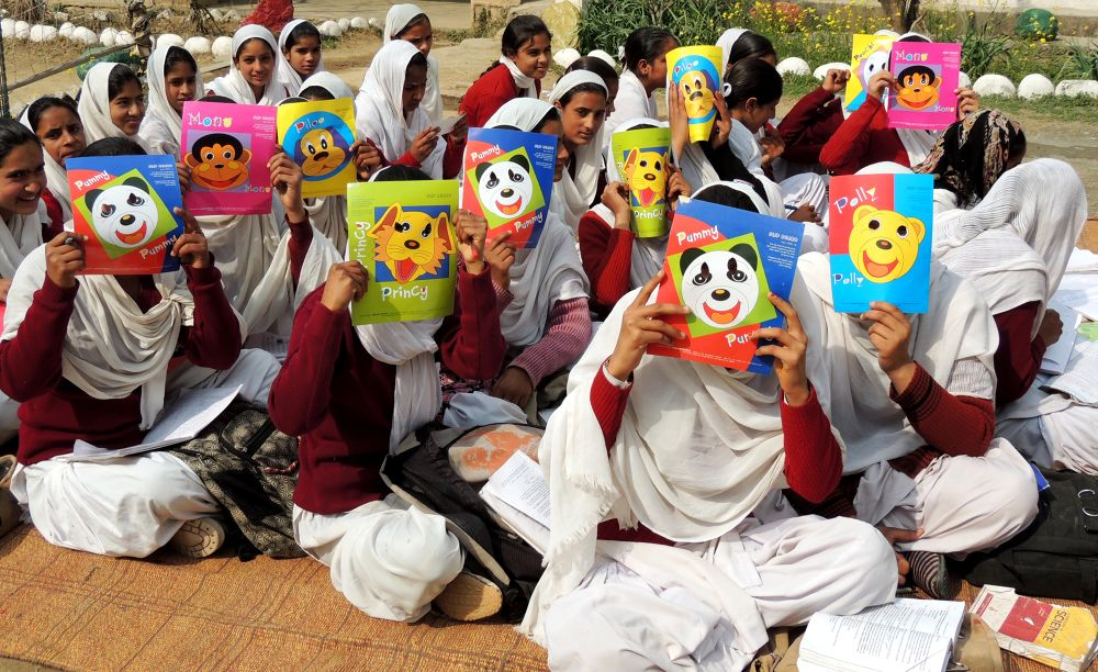 DSCN9910 Students With Masks Fun by maharajkar.isher