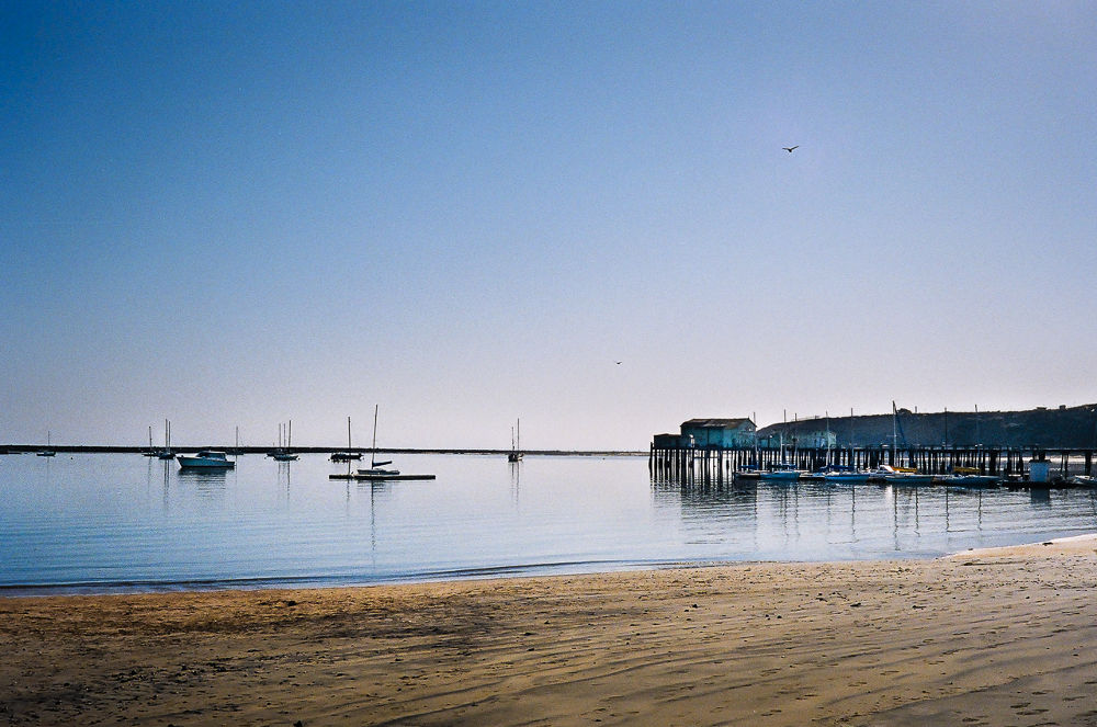 Cloudless and windless at Pillar Point by Ho John Lee