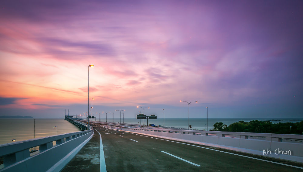 Morning Walk at 2nd Penang Bridge by catkchun