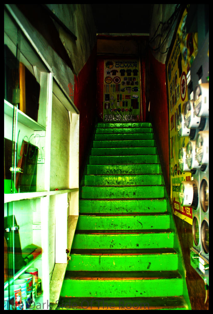Photo in Fine Art #mexico #d.f. #stairs #green #line #urban #city #saturation #contrast