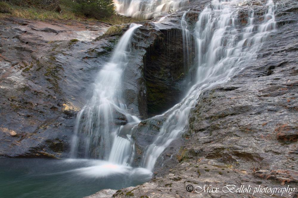 waterfall on Mount Devero by Massimiliano Belloli