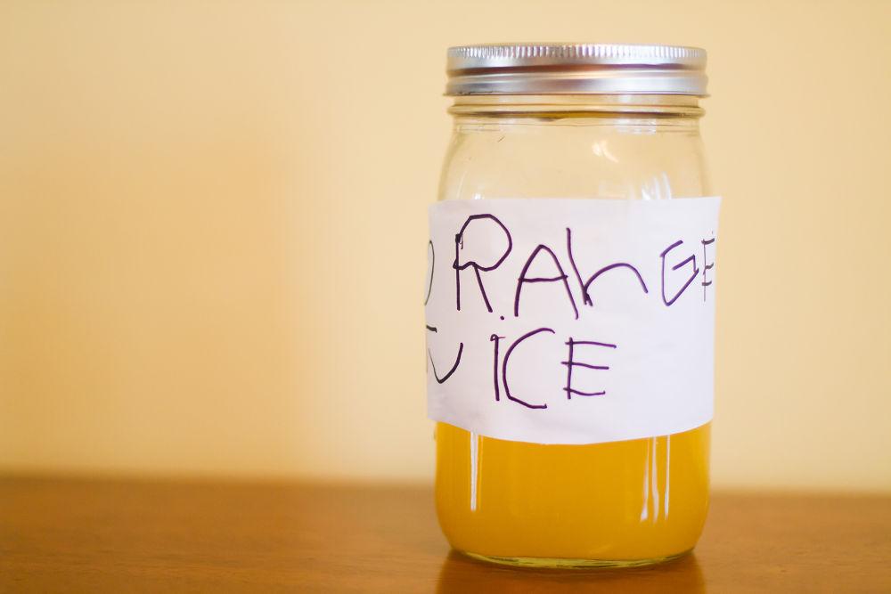 Photo in Random #orange juice #jar #still #food #drink #child handrwriting #ypa2014