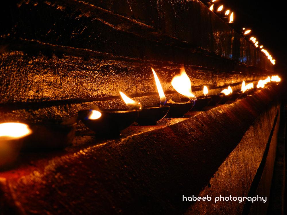 Temple Lamp by HABEEB RAHMAN