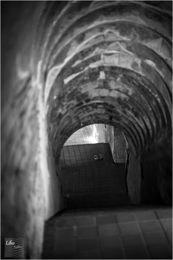 Photo in Black and White #tunnel