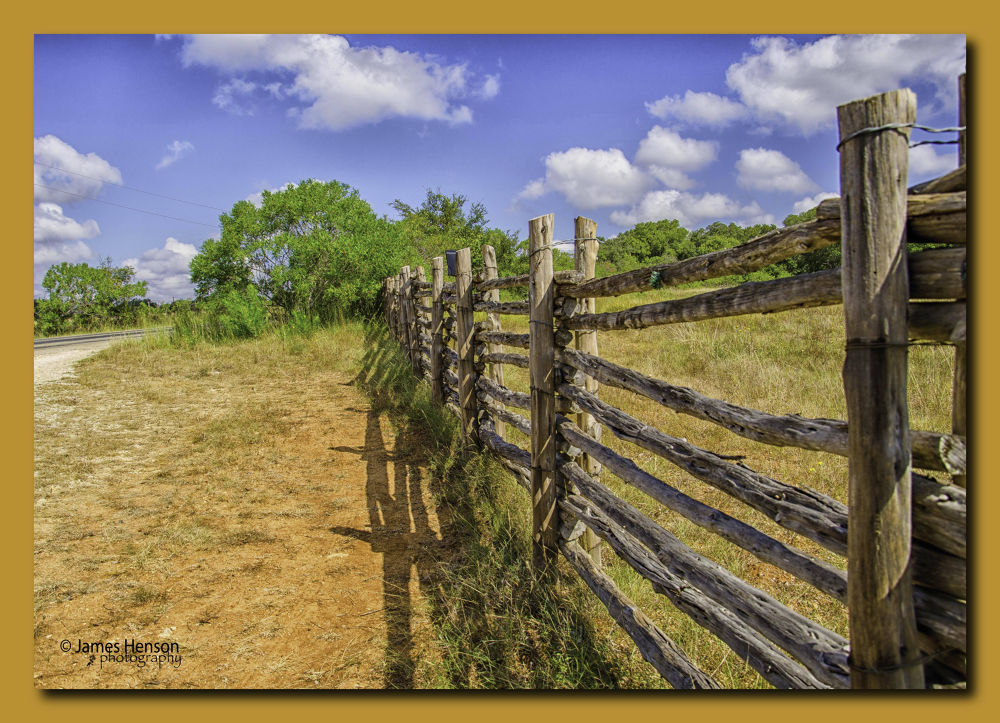 Rural Fence Row by James Henson