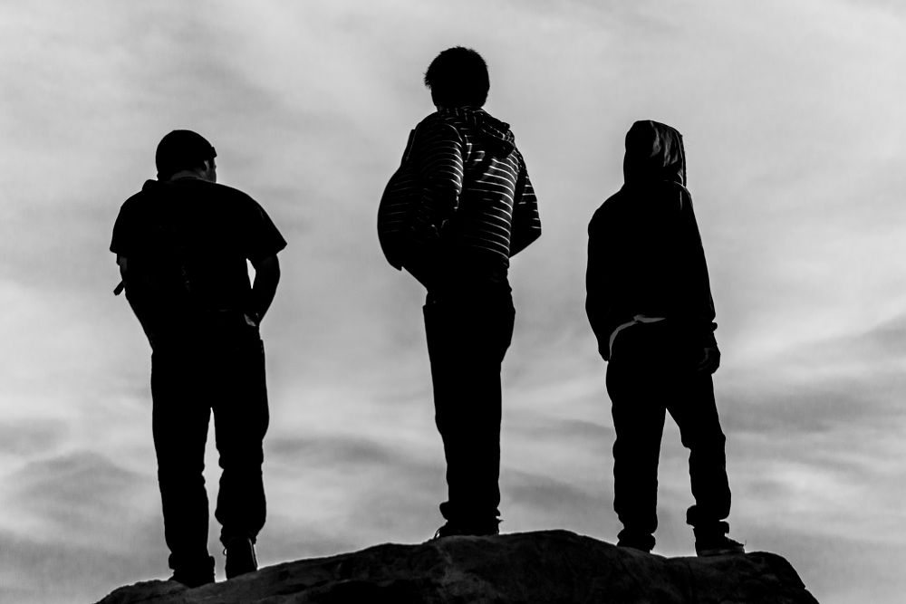 Photo in Abstract #abstract #black and white #three men