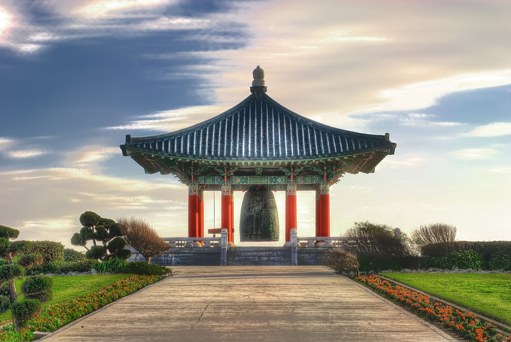 Photo in Architecture #bell pavillion #monument #architecture #hdr image #chinese architecture