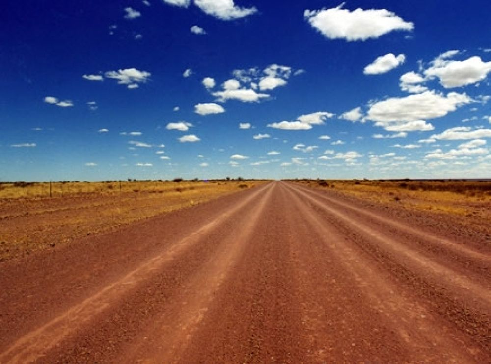 Namibia Desert Road by crazyduck