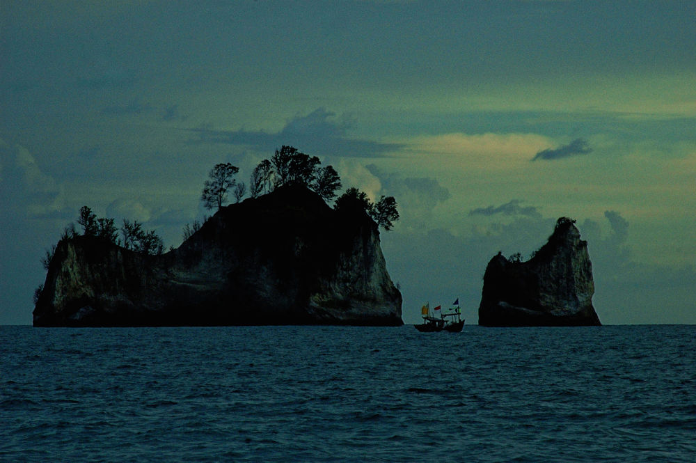 Fisherman At Krakatoa by Yulius B Susilo