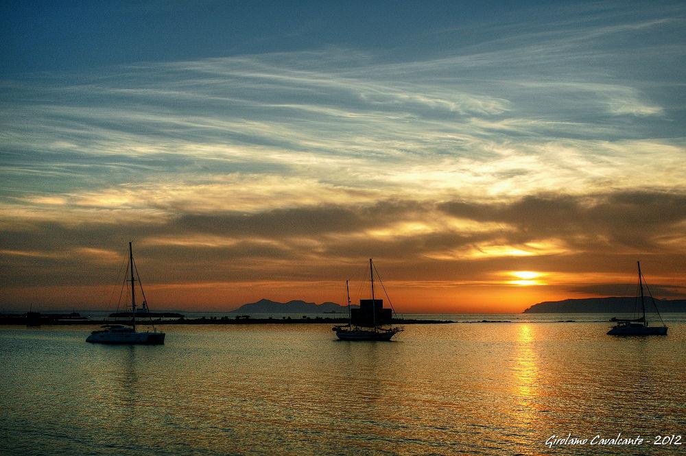 boats at sunset by GiroPhoto - Girolamo Cavalcante