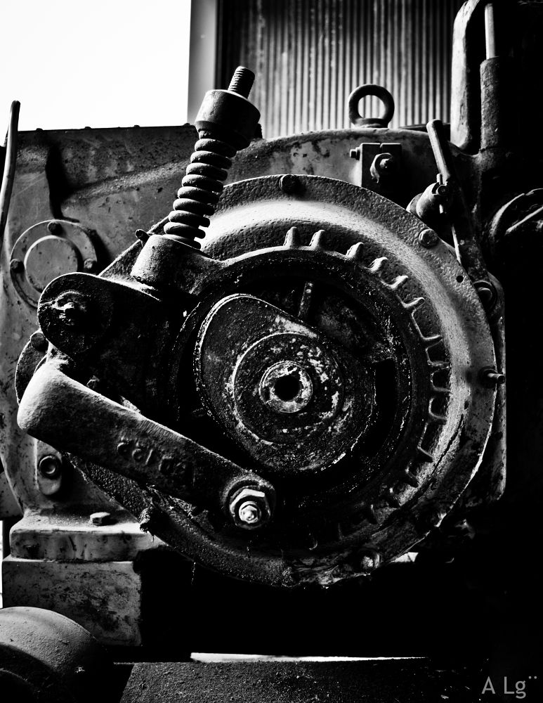 Photo in Industrial #ypa2013 #industrial #black and white #mechanism #nikon #switzerland #scrap iron