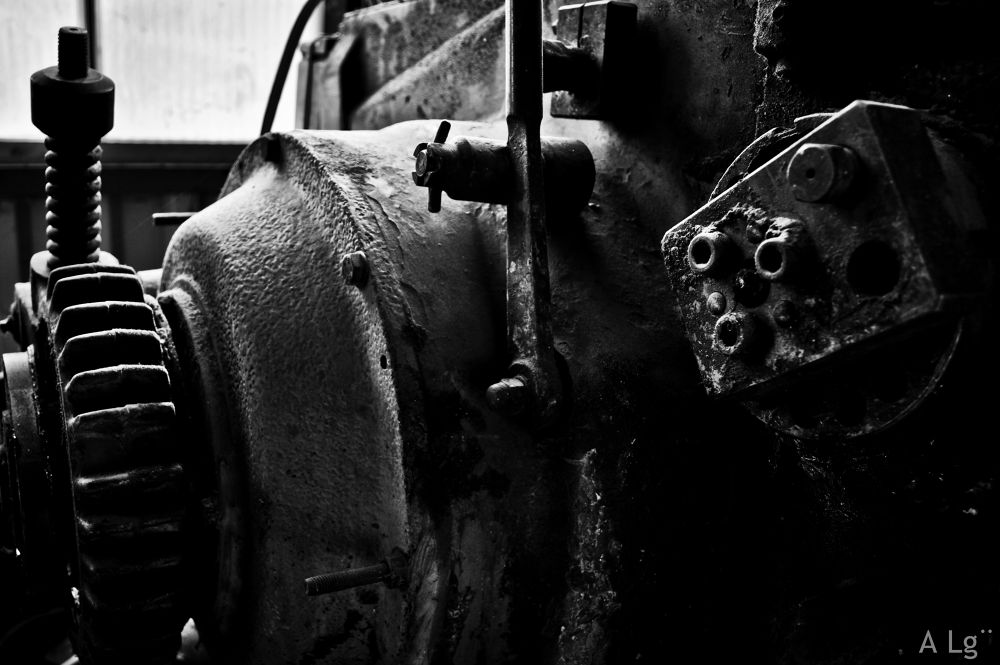 Photo in Industrial #ypa2013 #industrial #black and white #mechanism #nikon #switzerland