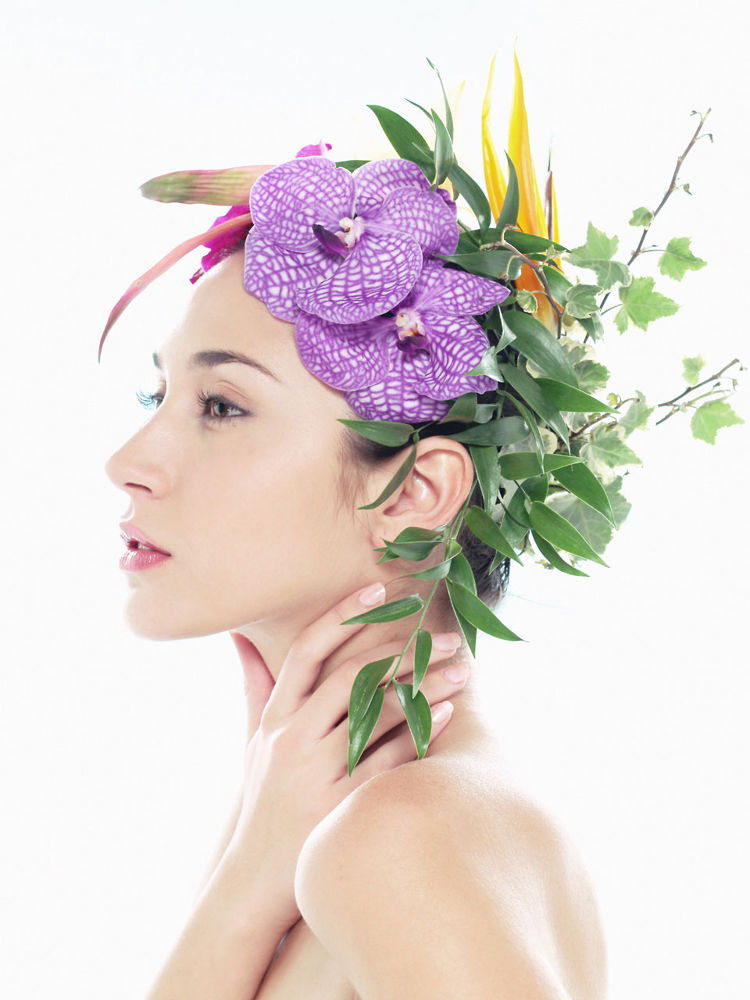 Photo in Portrait #flower #woman