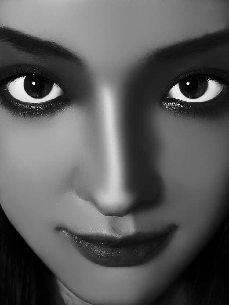Photo in Black and White #woman #b&w #expression