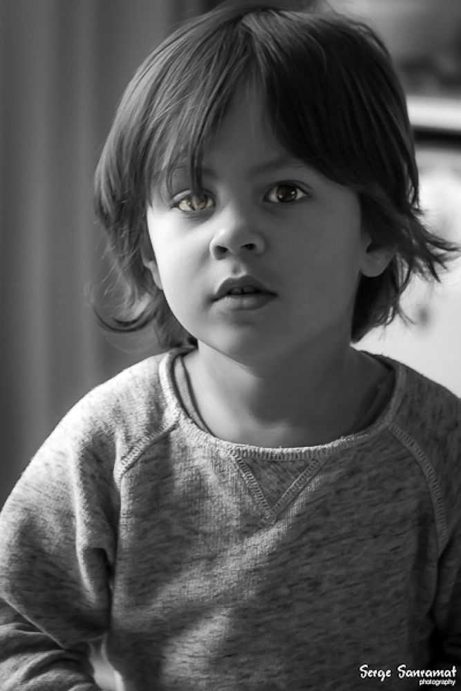 Photo in Portrait #portrait #b&w #kid #boy