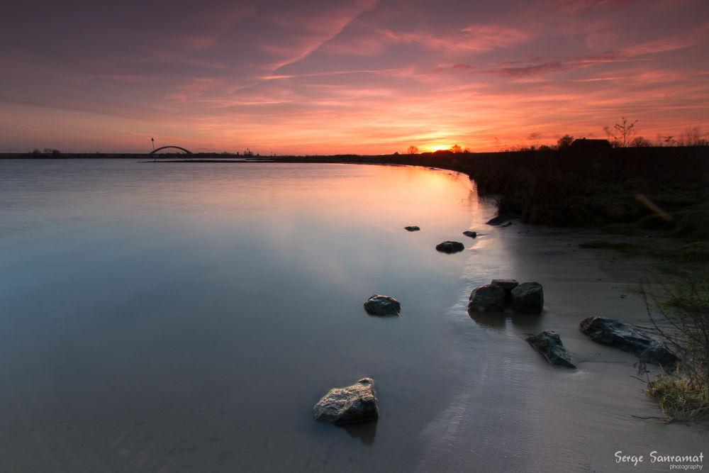 Sunrise Culemborg (dutch landscape) by Serge