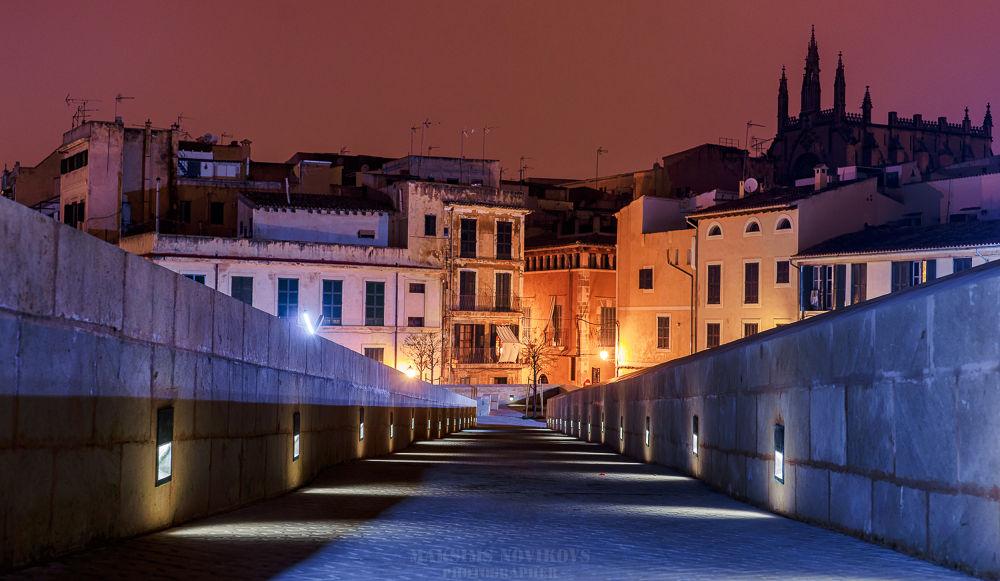 Photo in Cityscape #palma #sony a99 #50mm #ciudad vieja #nocturna #nigth