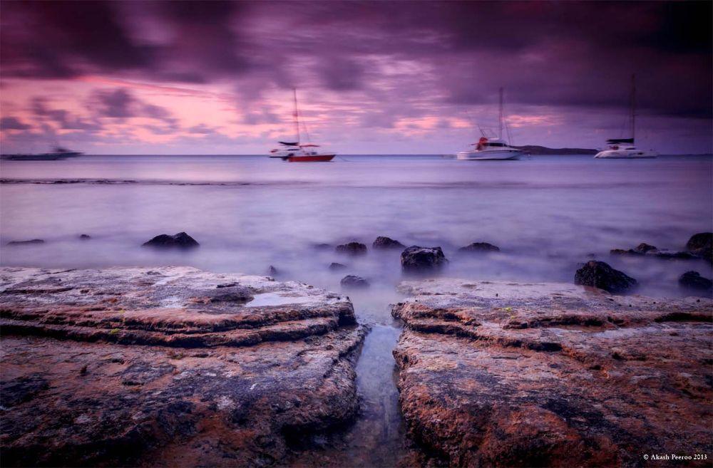 Photo in Sea and Sand #akash peeroo #mauritius #cap malheureux #sunset #grand baie #2013