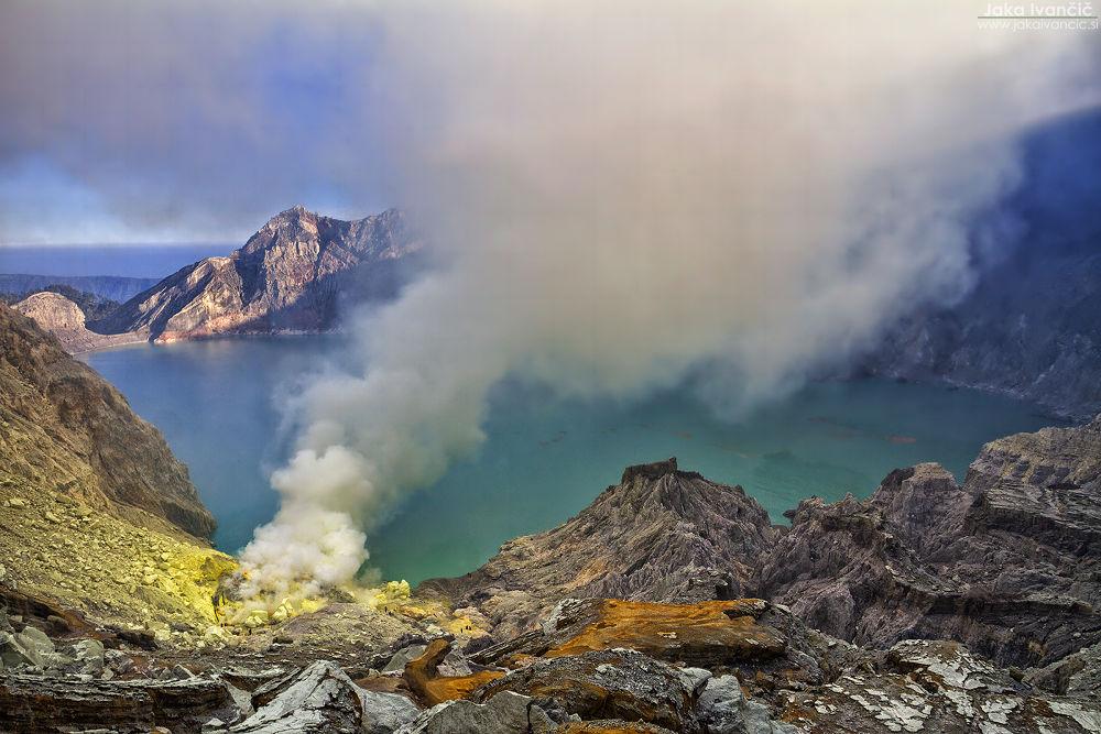 Kawah Ijen Sulfur Volcano Lake by Jaka Ivančič