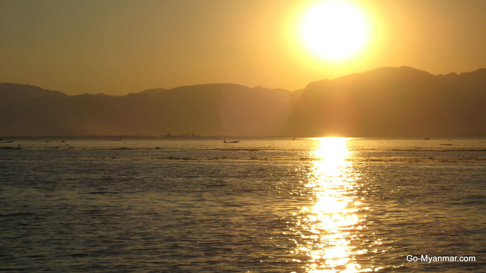 Inle Lake sunset view by Go-Myanmar.com