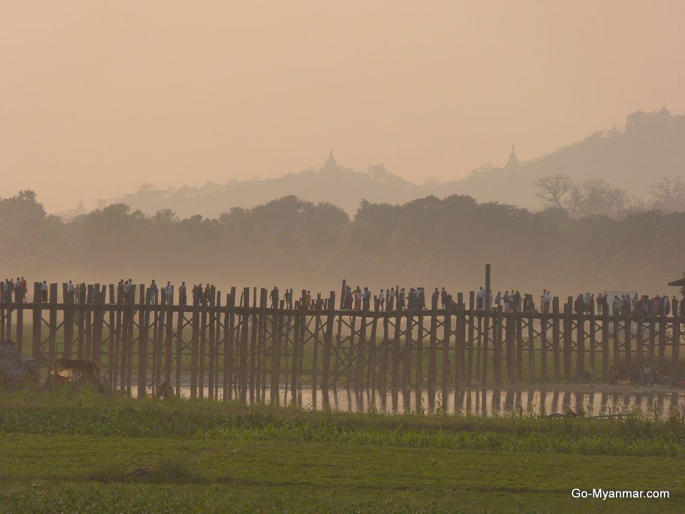 Photo in Travel #u bein bridge #mandalay #myanmar #burma
