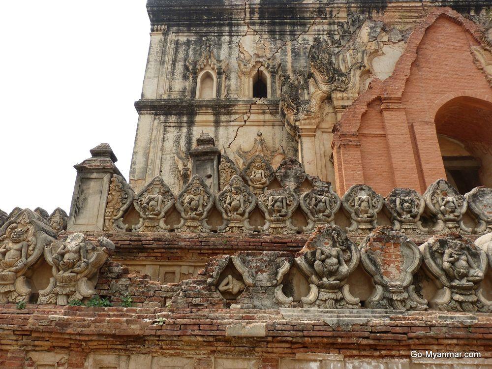 Detail on crumbling monastery, Inwa by Go-Myanmar.com