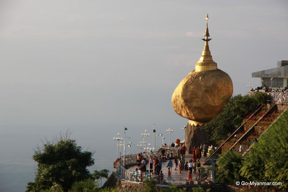 Mount Kyaiktiyo (the Golden Rock) by Go-Myanmar.com