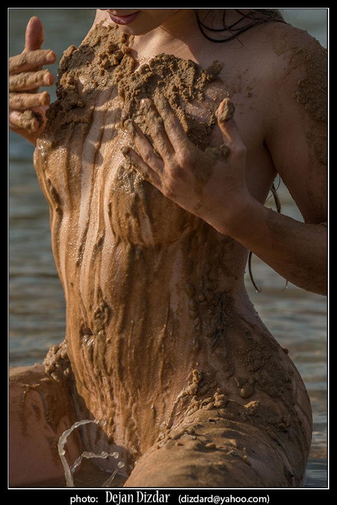 Photo in Nude #nude #water #lake #mud #body #figure #woman #female #erotic