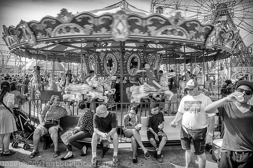 Merry Go Round - Coney Island, NY by Joseph Covington