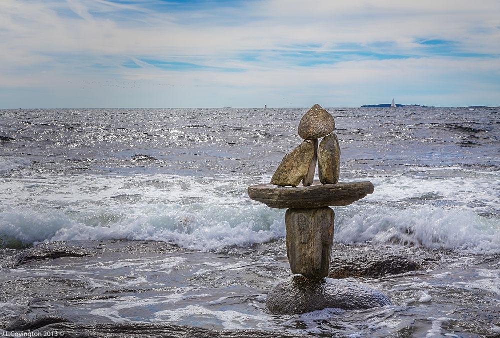 Rocks - pemaquid maine by Joseph Covington