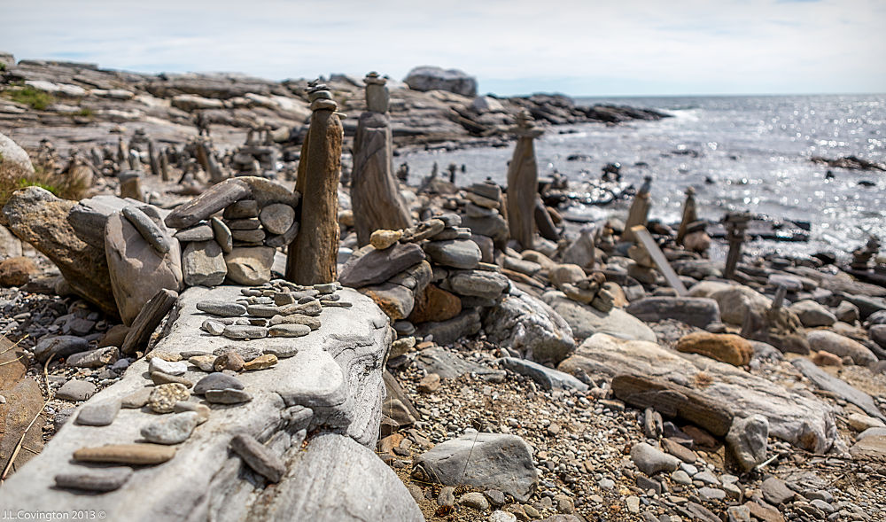 Rock Garden - pemaquid maine by Joseph Covington