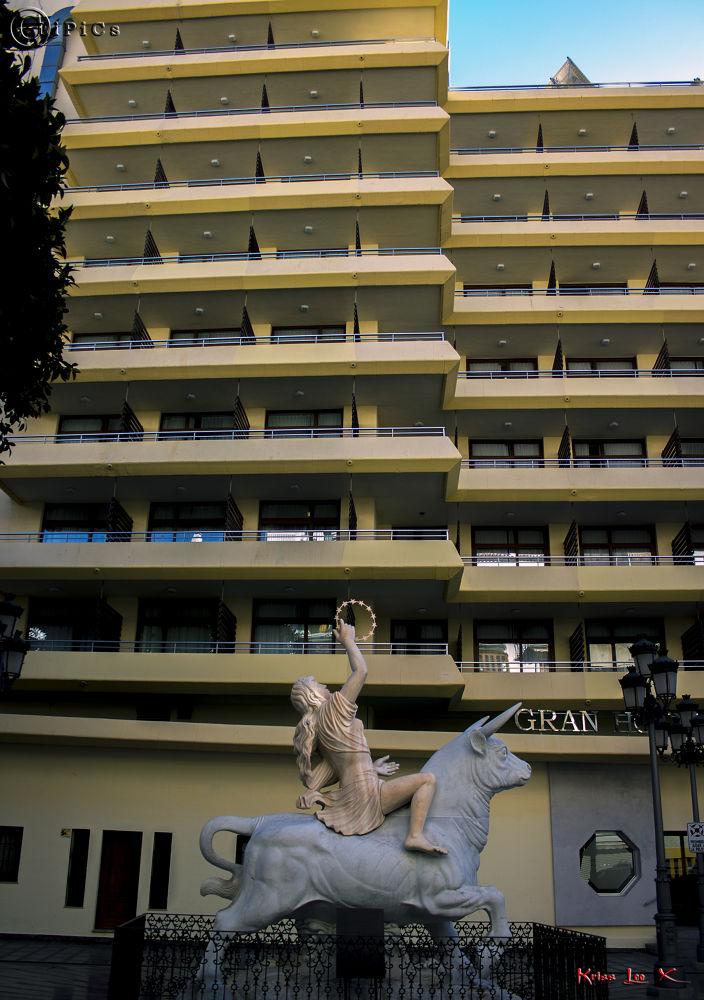 Photo in Fine Art #zeus #bull #europa #torremolinos #spain #plaza #statue